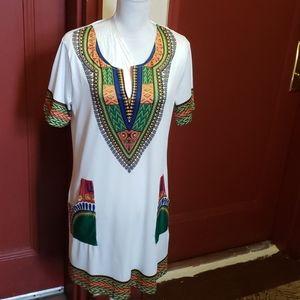 Dresses & Skirts - Vintage Women Tunic Beach Dress Size 3X